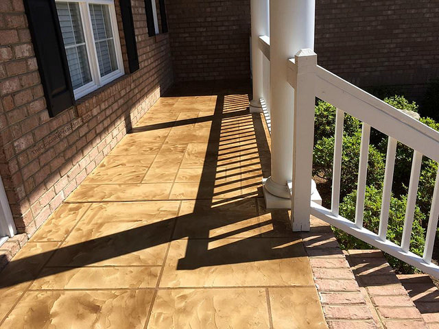 Slate Stained Concrete Porch | Culpeper Virginia | Decorative Concrete Company