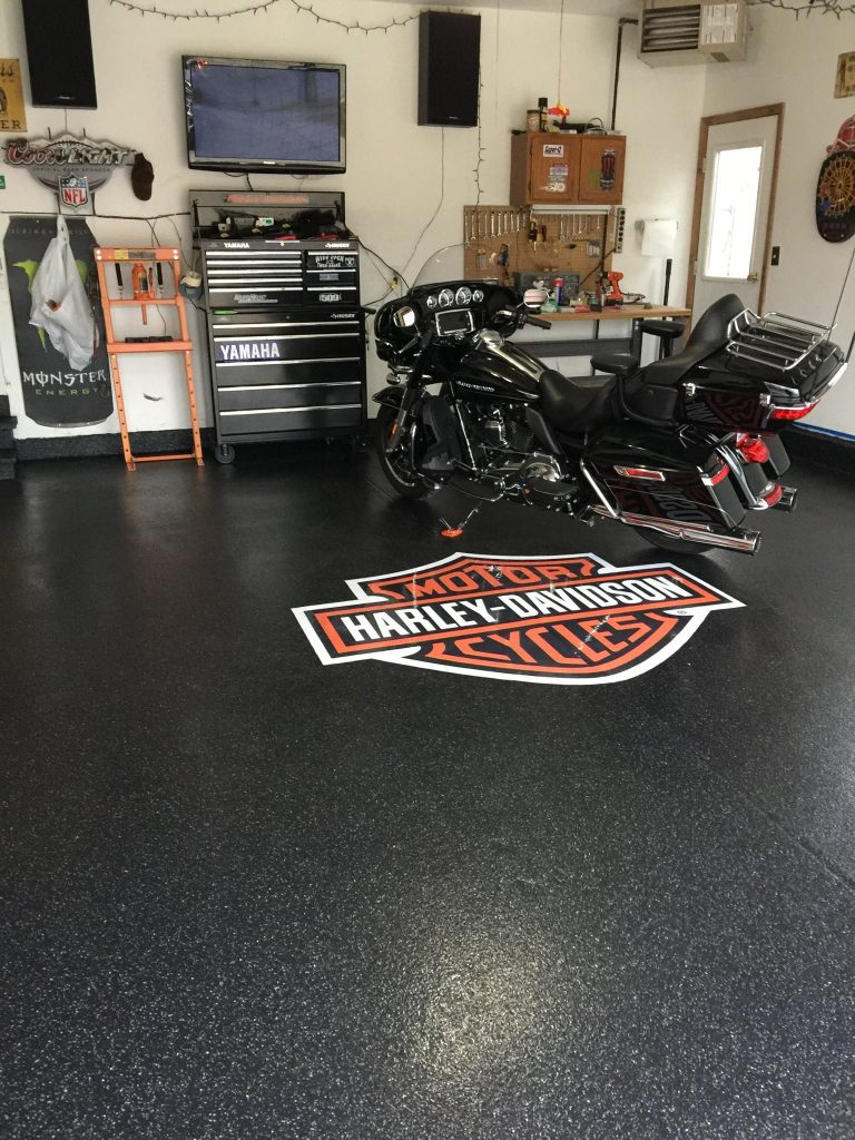 Epoxy Garage Flooring | Floor Logo | Culpeper Virginia | Decorative Concrete Company