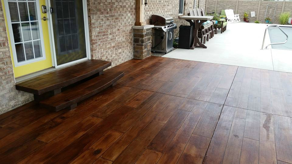 Rustic Concrete Wood | Culpeper Virginia | Decorative Concrete Company